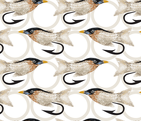 Fly Fishing Lure fabric by mariafaithgarcia on Spoonflower - custom fabric