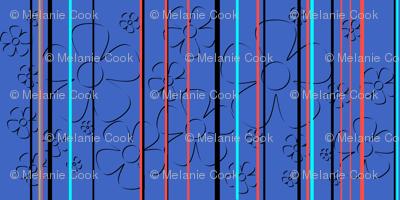 Daisy stripes - blueberry tart