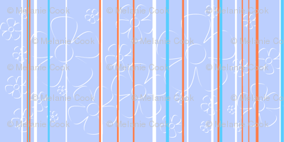 Daisy Stripes - cotton candy