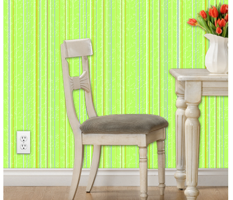 Daisy stripes - key lime