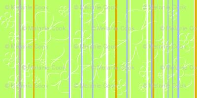 Daisy stripes - key lime