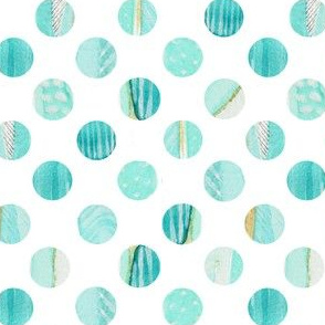 Watercolor Polka dot in Blues