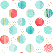 Polka Dots in Blue and Pinks