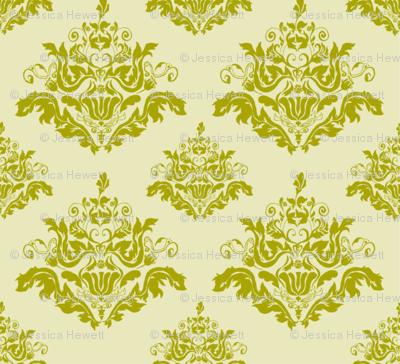 Rococo Pattern-Green