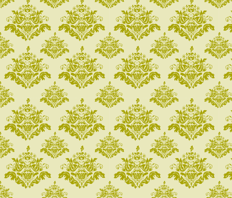 Rococo Pattern-Green fabric by chibiosaka on Spoonflower - custom fabric