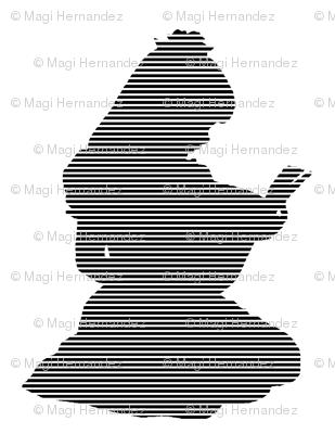 Black & white stripe  Words words words
