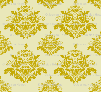 Rococo Pattern-Gold
