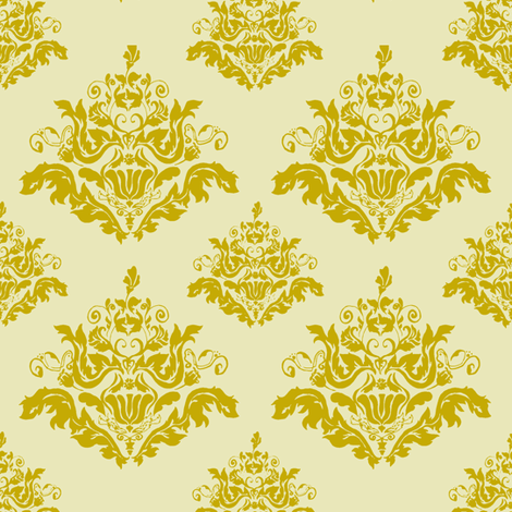 Rococo Pattern-Gold fabric by chibiosaka on Spoonflower - custom fabric