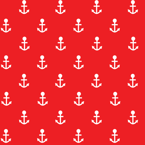 two_tone_anchor_red fabric by lpt-workshop on Spoonflower - custom fabric
