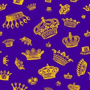 Royal Crowns - Golden yellow on Purple