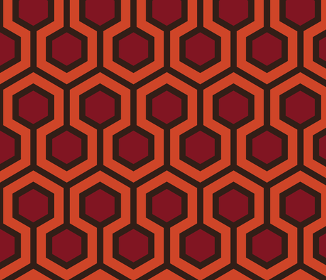 Overlook Hotel Hallway Carpet Large fabric by mariafaithgarcia on Spoonflower - custom fabric