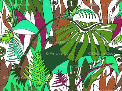 Rainforest on white