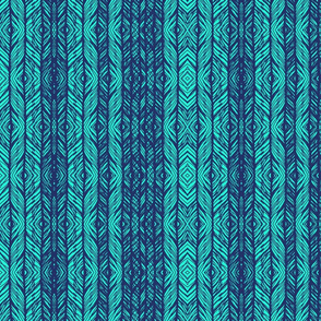 ikat peacock lace blue