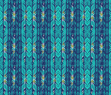 trapped feathers fabric by katarina on Spoonflower - custom fabric