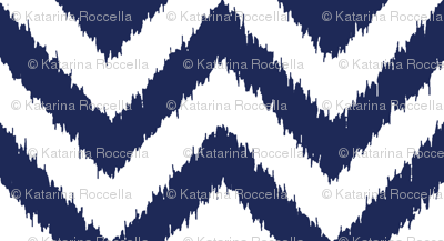 chevron ikat navy