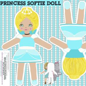 princess doll - cut and sew pattern template
