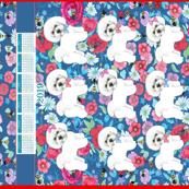 Bichon Frise 2019 Calendar tea towel