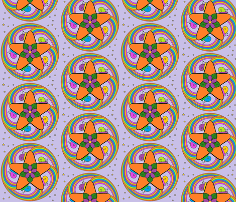 Snail Mandala fabric by zedralz on Spoonflower - custom fabric