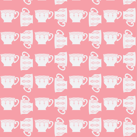 Rose tea ©2012 Jill Bull fabric by palmrowprints on Spoonflower - custom fabric