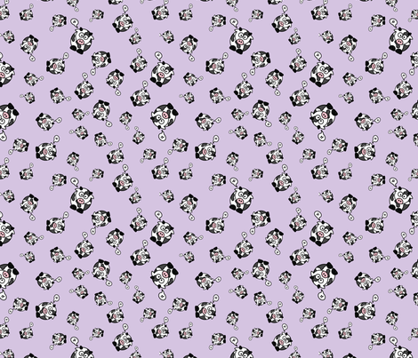 And the Cow Says Mu - Purple fabric by studiofibonacci on Spoonflower - custom fabric