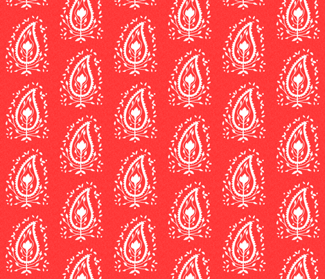 Red for India fabric by artthatmoves on Spoonflower - custom fabric