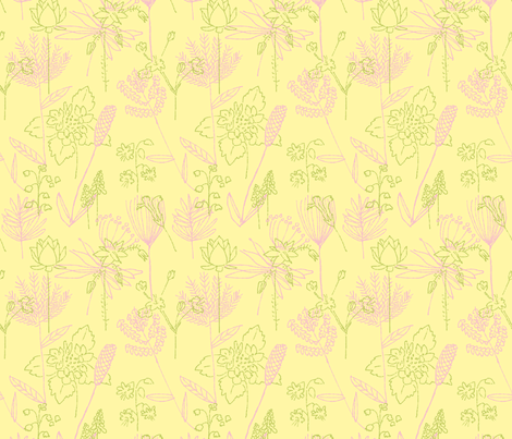 Flowers and Plants Larger Repeat fabric by vinpauld on Spoonflower - custom fabric