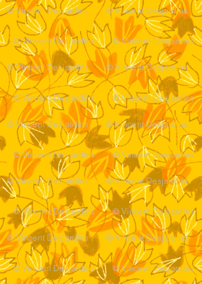Leaves on Saffron Bright