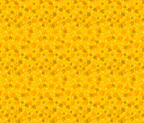 Leaves on Saffron Bright fabric by vinpauld on Spoonflower - custom fabric