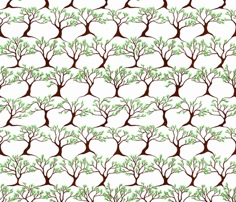 Dancing Trees fabric by martaharvey on Spoonflower - custom fabric