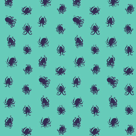 Octopus Dots fabric by jadegordon on Spoonflower - custom fabric
