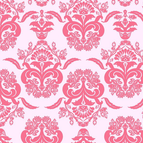 damask dolphin coral pink