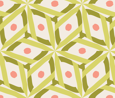 Ribbons 4 fabric by owlandchickadee on Spoonflower - custom fabric