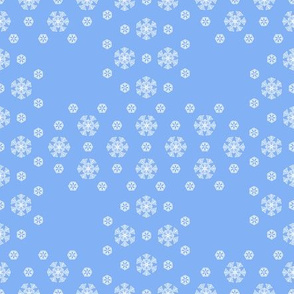Blue Snowflake Weave ©2013 by Jane Walker