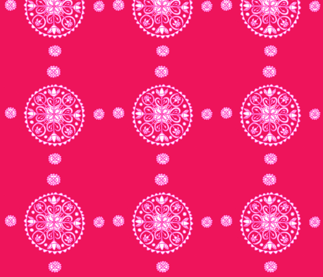 Pink Whimsical Lotus Mandala fabric by artthatmoves on Spoonflower - custom fabric