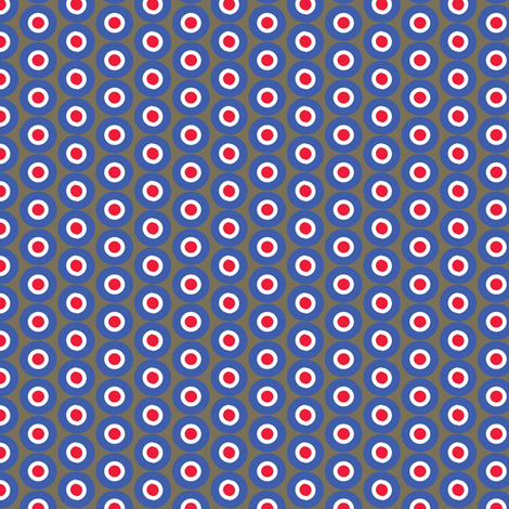 dots_on_brown fabric by susiprint on Spoonflower - custom fabric