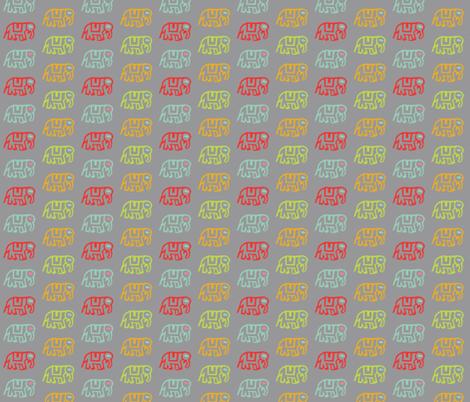 Did you ride an elephant? Gray fabric by jara_by_jacki on Spoonflower - custom fabric