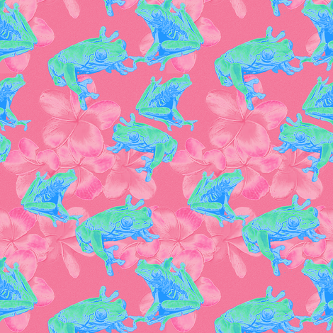 NEONFROGS fabric by mammajamma on Spoonflower - custom fabric