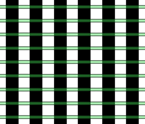 Translucent Green Tubes and Black Webbing fabric by anniedeb on Spoonflower - custom fabric