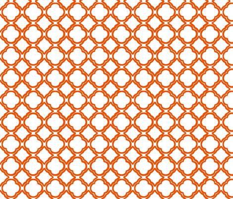 Ogee Trellis Tangerine fabric by lulabelle on Spoonflower - custom fabric