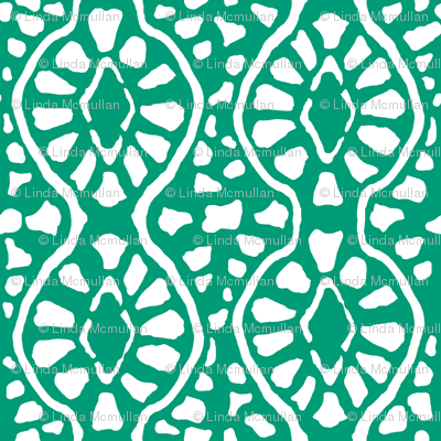 Cobblestone Trellis Emerald