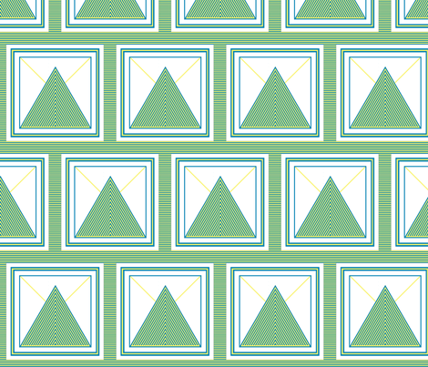 Saxon's Triangles v2 fabric by fireflower on Spoonflower - custom fabric