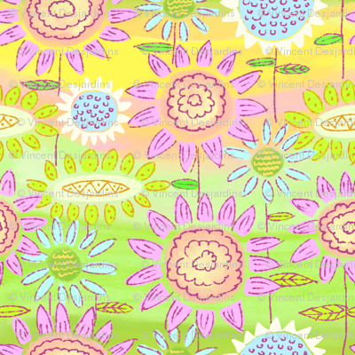 Floral Frolic Rainbow