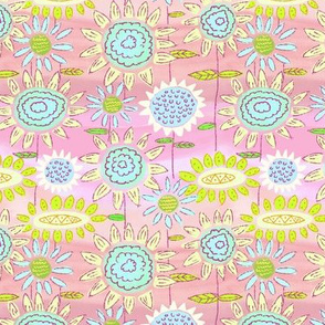 Floral Frolic Pink and Blues