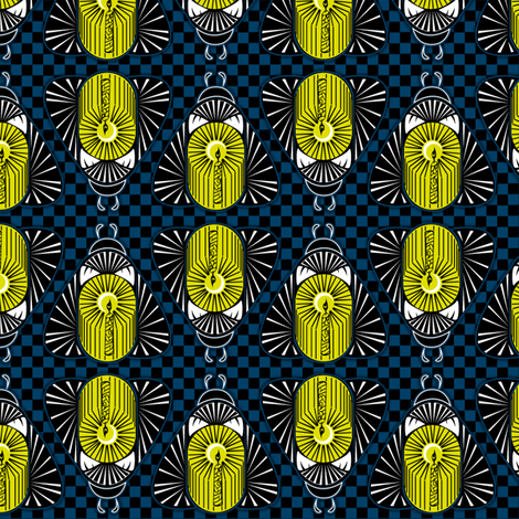 Candle Bugs  synergy0001  fabric by glimmericks on Spoonflower - custom fabric