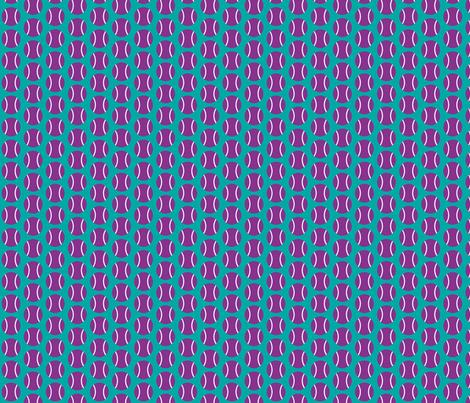 Small Half-Drop Purple/White Tennis Balls fabric by audreyclayton on Spoonflower - custom fabric