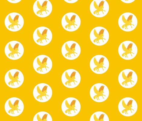 Golden Pegasus fabric by smuk on Spoonflower - custom fabric