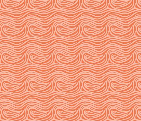 hurly-swirly-orange fabric by blotchandthrum on Spoonflower - custom fabric
