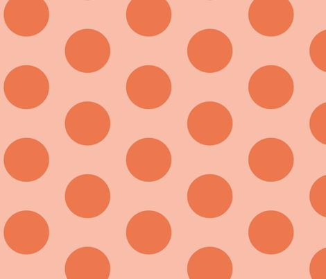 monsterdot-orange fabric by blotchandthrum on Spoonflower - custom fabric