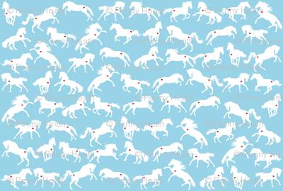 Prancing Ponies in the Big Blue
