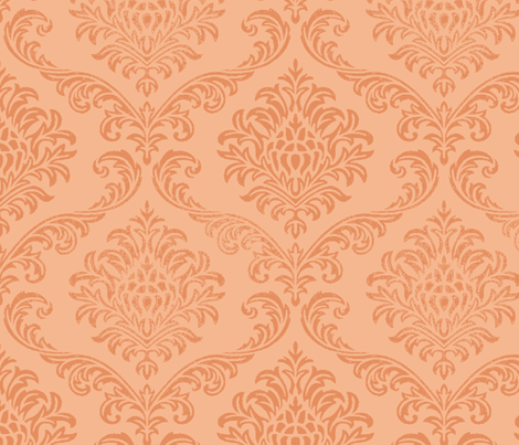 ROCK BROCADE / Peach fabric by paragonstudios on Spoonflower - custom fabric